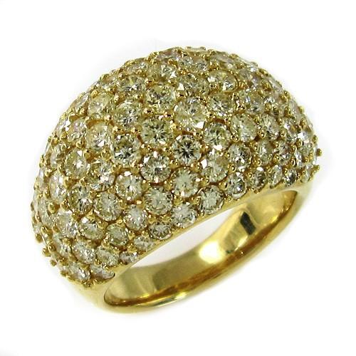 【公式】 天然ダイヤモンド リング 婚約指輪にも k18 パヴェ留め 4カラット超え (イエロー), 長野原町 84373bd6