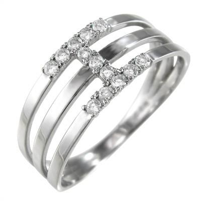 即日発送 18kゴールド 3連リング 4月誕生石 (ホワイト 天然ダイヤモンド ピンク) イエロー-指輪・リング