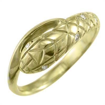 【感謝価格】 (ホワイト 18金ゴールド 象徴 指輪 ピンク) 金運 イエロー 天然ダイヤモンド ヘビ-指輪・リング