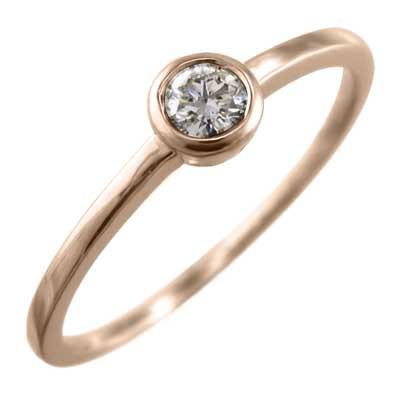 【後払い手数料無料】 1粒 石 指輪 ブライダルリング にも 天然ダイヤモンド 4月誕生石 k18ゴールド (ホワイト イエロー ピンク), パール優美 31983ee2
