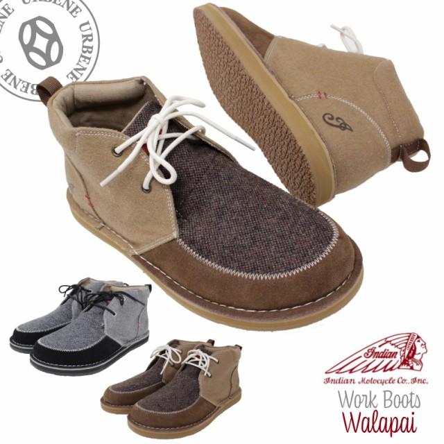 インディアンモトサイクル Indian ワークチャッカブーツ ワラパイ スウェード メンズ 靴 ブーツ 厚底 スニーカー 紐靴 スエード|au  Wowma!(ワウマ)