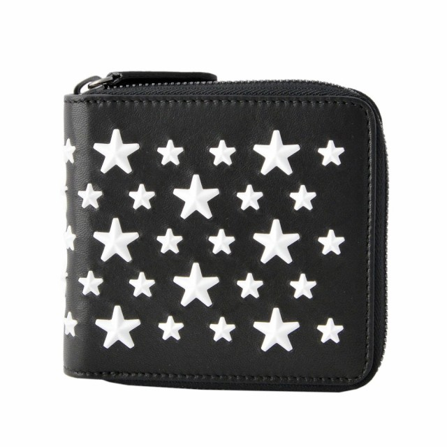 品質満点 ジミーチュウ JIMMY メンズ CHOO LAWRENCE ENL ENL BLACK BLACK WHITE メンズ スタースタッズ 二つ折り財布, めがね侍:76d466df --- kzdic.de