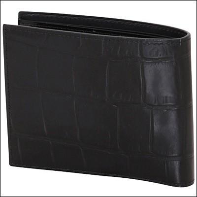 c8b938724971 Vivienne Westwood ヴィヴィアン ウエストウッド クロコ 二つ折り財布 ブラック