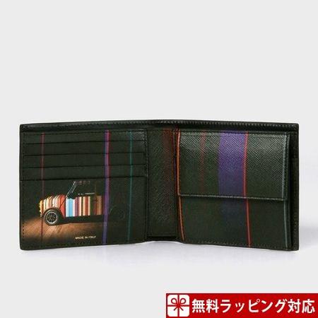 大勧め ポールスミス 2つ折り財布 財布 メンズ 折財布 Mini 折財布 プリントコレクション 2つ折り財布 Mini ブラック Paul Smith, HYPE:53cc5db1 --- 1gc.de
