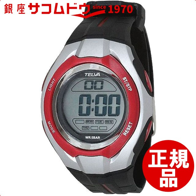 b3d783e1f8 スポーツ ウォッチ 腕時計 デジタル ストップウォッチ機能付き TE-D050-RD レッド [3up