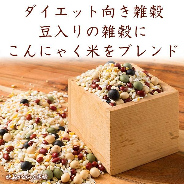 雑穀 ダイエット雑穀米(豆有) 3kg 国産 こんにゃく米配合 500g×6袋 カロリーカット スリムブレンド 送料無料