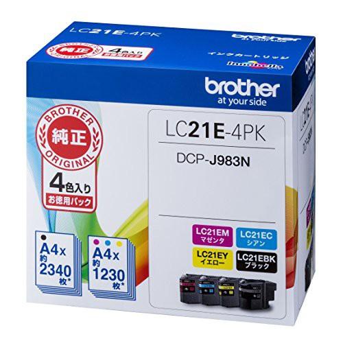 other 純正インクカートリッジ大容量 4色パック LC21E-4PK ブラザー工業