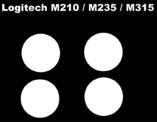Corepad 【ゲーミングマウスフィート】 Skatez for Logitech M210 M235 M315 (sing