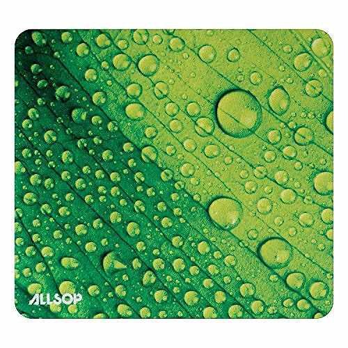 Allsop Naturesmart マウスパッド リーフ レインドロップ(雨滴)模様 31624 Allsop