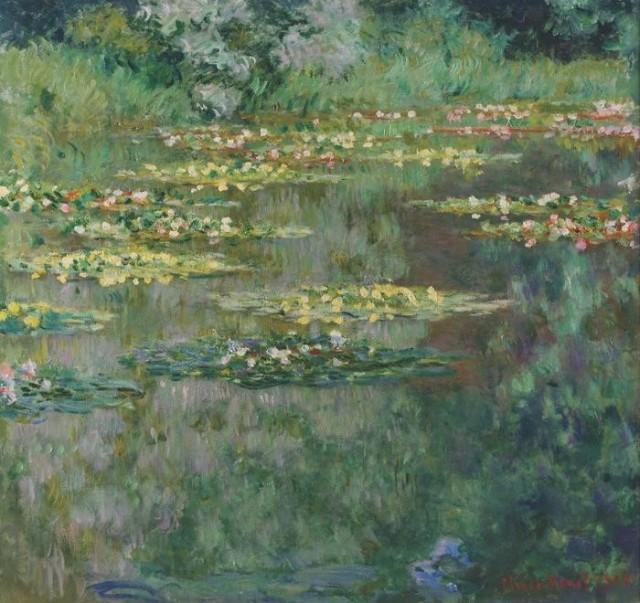 絵画風 壁紙ポスター クロードモネ 睡蓮 1904年 Water Lilies デンバー