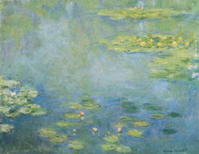 絵画風 壁紙ポスター クロードモネ 睡蓮 1906年 Water Lilies 大原