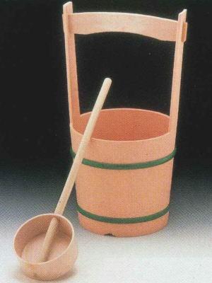 P.C 手桶セット 柄杓付 日本製