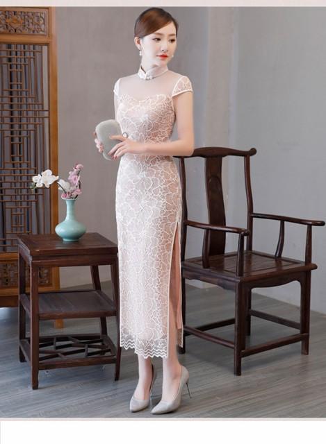 487667d8b7d18 セクシー タイト チャイナドレス風ワンピース チャイナドレス ロングドレス 結婚式 パーティードレス キャバ嬢ドレス キャバドレス の通販はWowma!