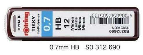 ロットリング メカニカルペン替芯 0.7mm HB S0 312 690