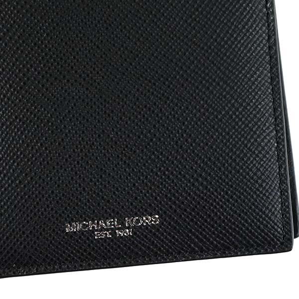 マイケルコース 財布 二つ折り財布 MICHAEL KORS HARRISON 39F5LHRF3L WALLET WITH COIN 1 BLACK 比較対照価格 24,840 円