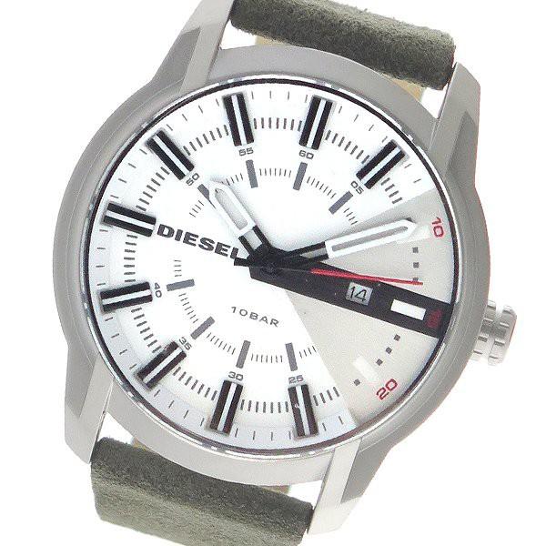 1f83100006 ディーゼル 腕時計 メンズ DIESEL 時計 ホワイト カーキ 人気 ランキング ブランド おしゃれ 男性 ギフト プレゼント