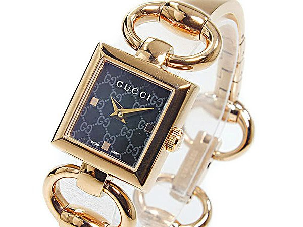 8a3810cdc2 グッチ 腕時計 レディース GUCCI 時計 ブラック ピンクゴールド 可愛い 人気 ブランド 女性 ギフト クリスマス プレゼント