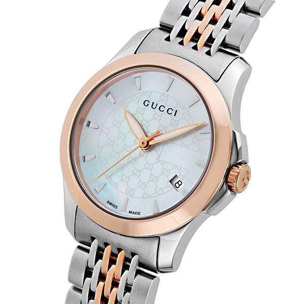 グッチ 腕時計 レディース GUCCI 時計 Gタイムレス ホワイトシェル おしゃれ 人気 ブランド 女性 ギフト クリスマス プレゼント