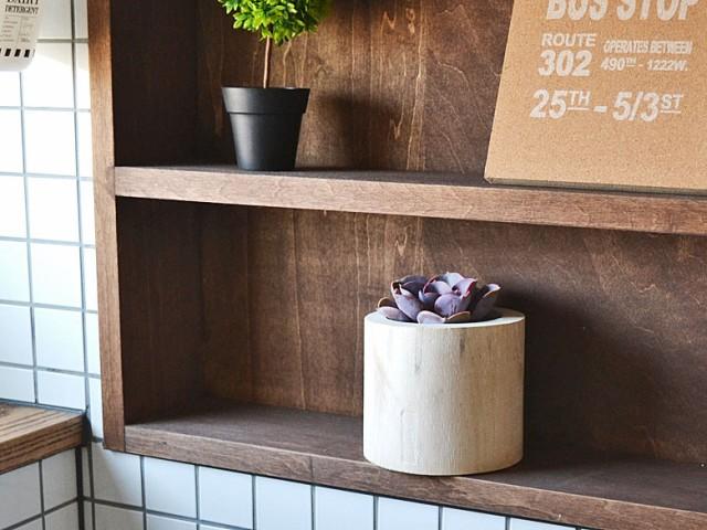 多肉植物 木製ポット イメージ2