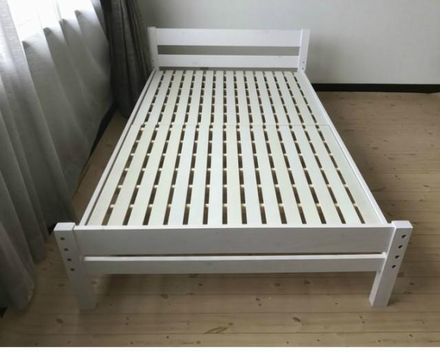 ベッド すのこベッド セミダブル ベッド スノコ sunoko すのこベット スノコベッド すのこ アウトレット 高さ 調整 ピコ マットレスは別
