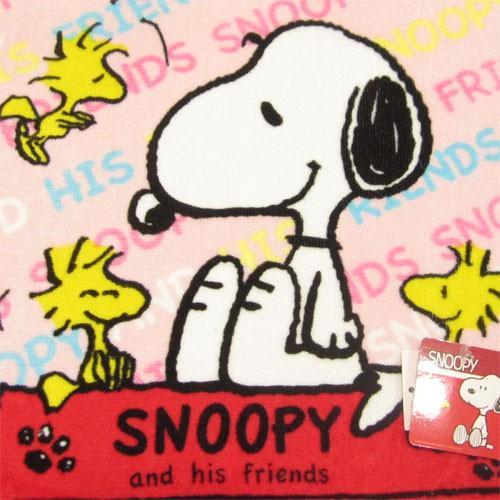 ピーナッツ スヌーピー ハンドタオルb ピンク Peanuts Snoopy