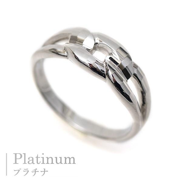プラチナ リング 指輪 ファッションリング レディース 鎖 デザイン キラキラ 多面カット リング 繋ぐペアリング Pt900 記念日