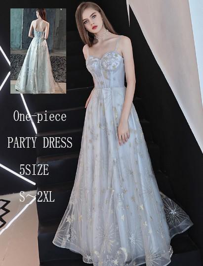 2dc10ec2570bc 2018新品 星柄 可愛い パーティードレス 大人 上品 刺繍 二次会 大人 結婚式 ウェディングドレス
