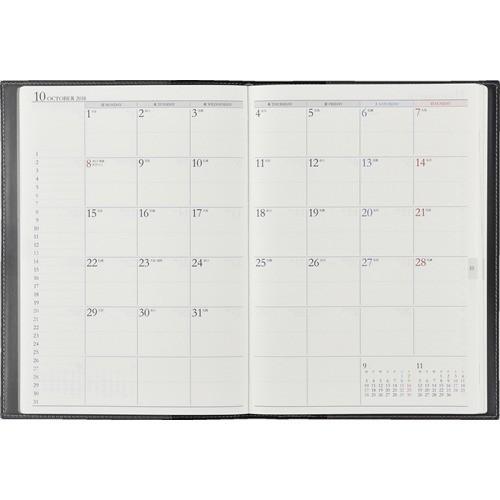 【2018年4月始まり】 高橋書店 917 デスクダイアリー リプレ(R) A5判 ウィークリー ブラック 月曜始まり