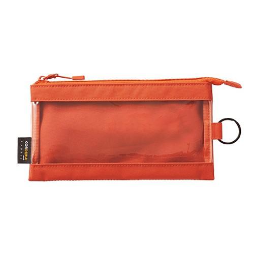 リヒトラブ SMART FIT クリヤーケース ペンサイズ F7571-4 オレンジ