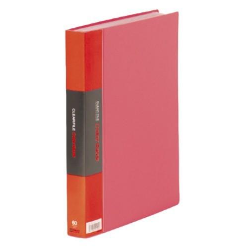 キングジム クリアーファイル トリプル A4S 132‐3C 赤