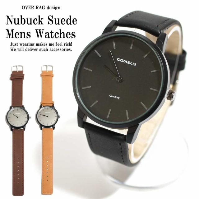 def7d96083 メンズウォッチ メンズ 時計 出来る男のカジュアルウォッチ! ヌバックスエードウォッチ 腕時計 ブレスレット カジュアル