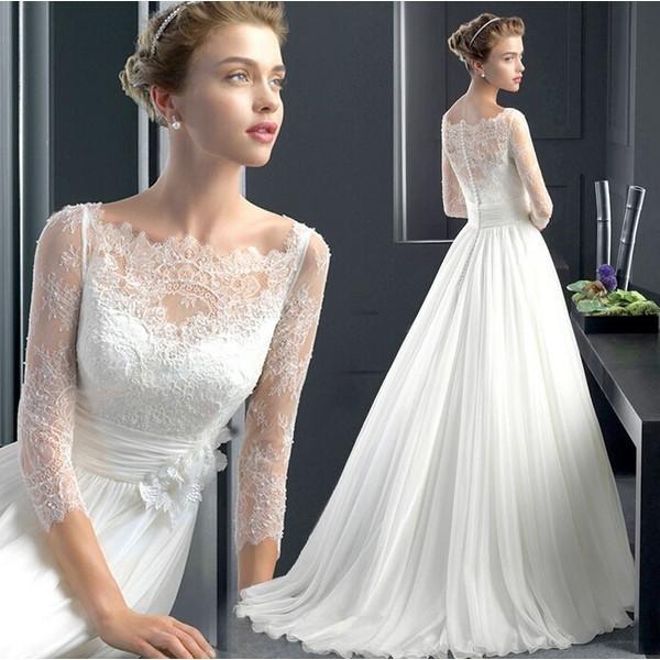 ロングドレス お花嫁ドレス ウエディングドレス ドレス ビスチェタイプ 刺繍 ゴージャス 結婚式 二次会 パ二エベール S4580