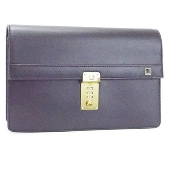 d74335f8585d ダンヒル セカンドバッグ クラッチバッグ ダイヤルロック式 レザー ブラック 中古 dunhill メンズ ビジネスバッグ 袋
