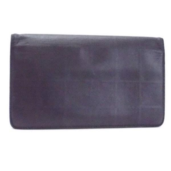 9ff09eff8dcf シャネル ニュートラベルライン 二つ折り長財布 ブラック レザー A35435 中古 CHANEL レディース メンズ シール