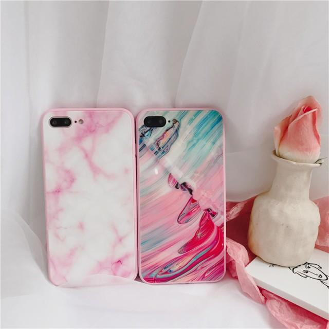 iphone6s Plus/iPhone6 Plus/iPhone7 Plus/iPhone7/iPhone8 Plus/iPhone8/iPhoneXケースかわいい大理石柄ケース【hn1914】