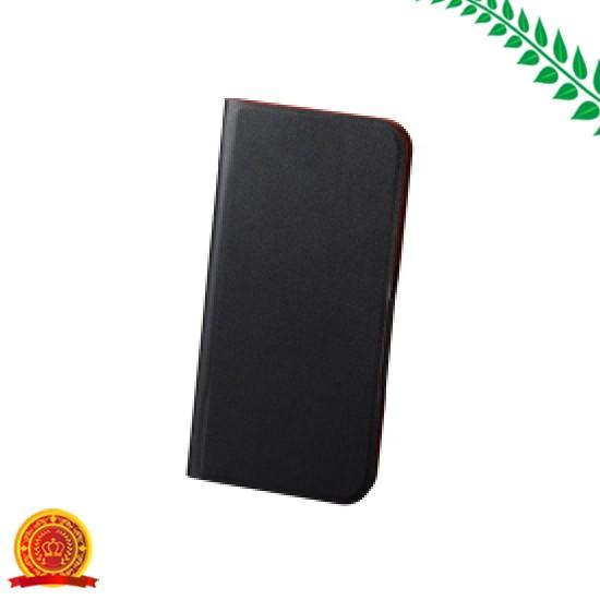 エレコム iPhone対応 X ケース 手帳型 レザー 磁石付 スリープ ブラック PM-A17XPLFUPBK[ゆうパケット対応商品][選択]