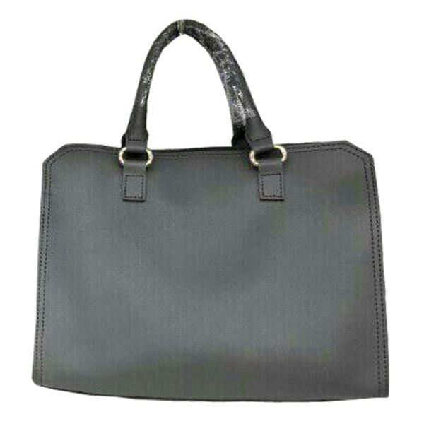 ビジネスシーンで使える♪パカっと開くフルランドファスナーハンドバッグ/グレイ 送料無料!