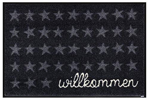 クリーンテックス・ジャパン wash+dry(ウォッシュ アンド ドライ) 玄関マット Willkommen Sterne 50