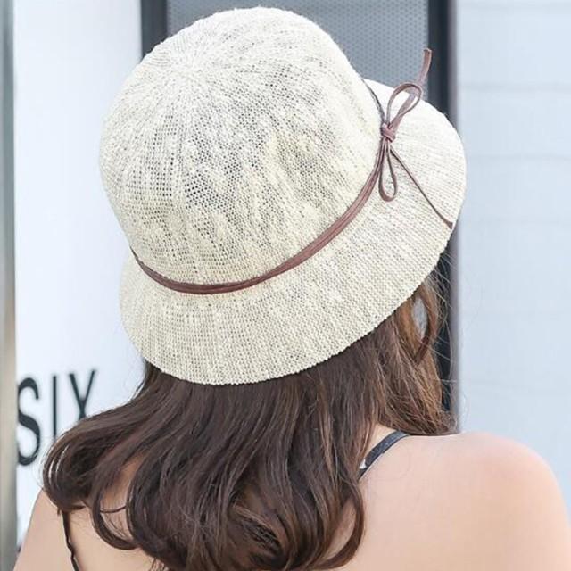 帽子/麦わら帽子/バケットハット/レディース/UVカット/ストローハット/女性用/紫外線対/小顔効果