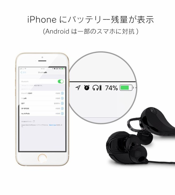 イヤホン Bluetooth ワイヤレス ブルートゥース ランニング スポーツ 両耳 イヤフォン 軽量 ノイズキャンセリング iPhone