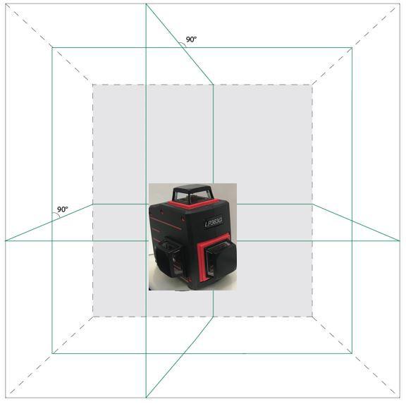 グリーンレーザー墨出し器円錐ミラーキューブフルラインLP363G(乾電池仕様) 受光器対応/シームレス/高輝度/墨出器