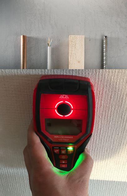 ADA ウォールスキャナー120Pro 壁裏センサー/デジタルウォールスキャナー/デジタルセンサー/デジタル探知機