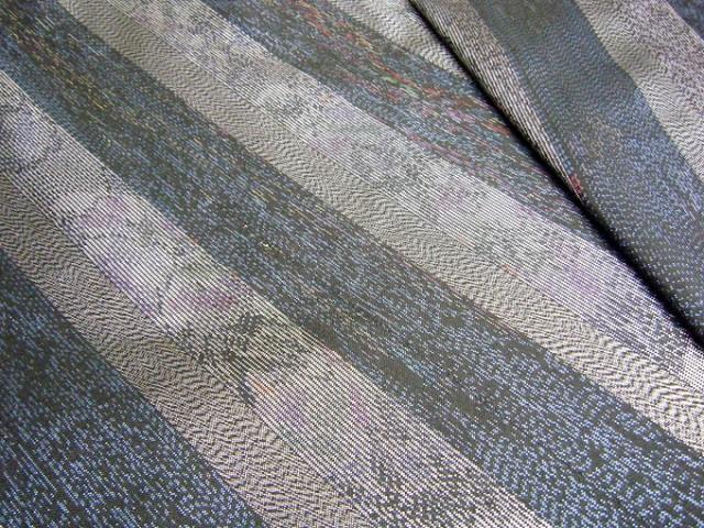 縞大島紬 機械織り 本場大島紬 やたら縞大島紬 正絹 反物