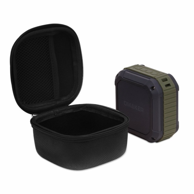 Omaker M4 / UE Boom 2 保護ケース 高品質PU製 Ultimate Ears Bluetoothスピーカー専用 カバー 保護ケース ブラック カラビナとストラッ