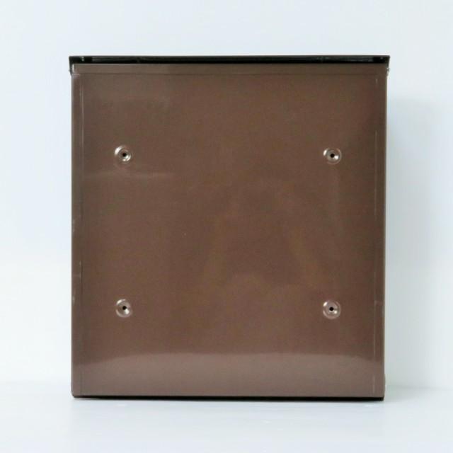 郵便ポスト郵便受け飾りバー付スタンド型メールボックスプレミアムステンレスブラウン色ポストpm06f-pm022