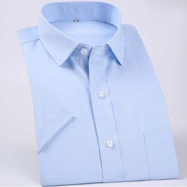 39cecafc2c8e8 半袖 ワイシャツ メンズ Yシャツ ビジネスシャツ 半袖ワイシャツ ビジネス カラーシャツ お葬式 礼服 結婚