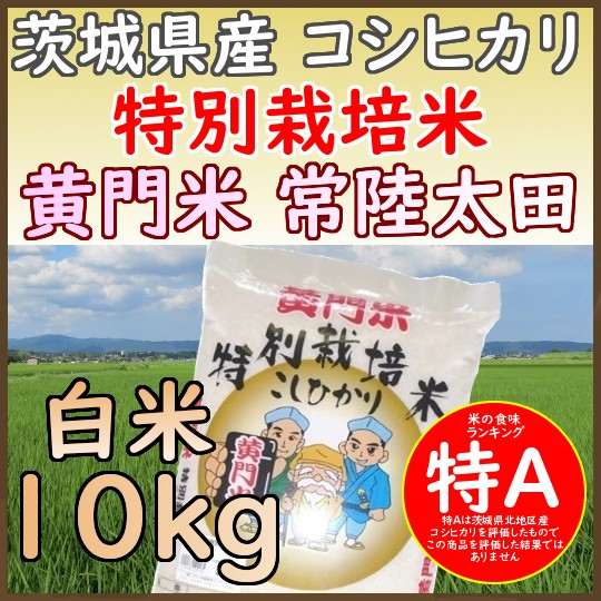 29年茨城県産黄門米特別栽培米コシヒカリ白米10kg 県北 特A 常陸太田