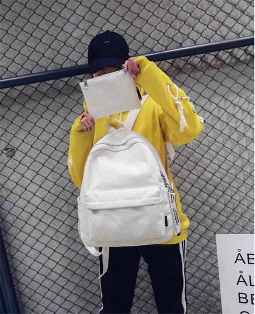 リュック 可愛い メンズ レディース 人気 高校生 通学 バックバッグ トレンド大容量リュックサック おしゃれ スクエア 4色選択可能
