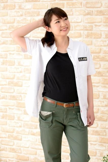 送料無料 男女兼用ミリタリーワッペンシャツ(半袖、WHITE)Mサイズ 10代~40代メンズ&レディース
