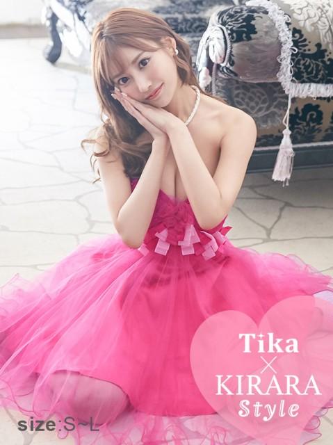 e7b238d6d98b2 明日花キララ ドレス着用 Tika ティカ (XS S M) フラワーリボンチュール ...
